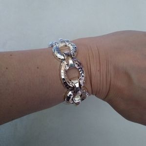 NWT Silver Tone Fashion Bracelet
